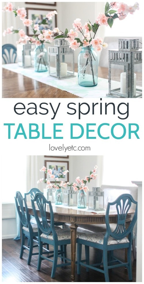 Simple, colorful spring table decor for cheap. Add easy spring decor to your table and dining room using items you already own.