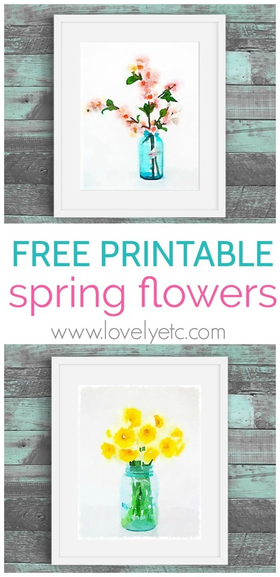 graphic about Free Printable Flowers titled Free of charge Spring Printables: Cherry Blossoms and Daffodils