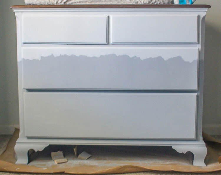 adding movement to two tone dresser