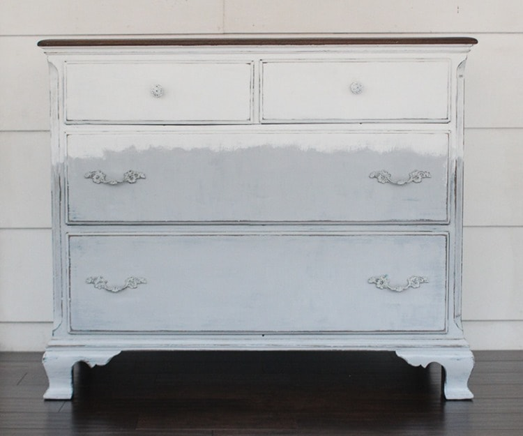 white and gray dresser