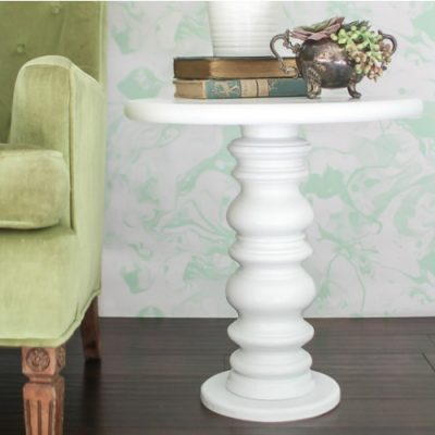 Easy diy side table made from something unexpected