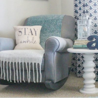 Navy and Gray Nursery Full of Special DIY Touches