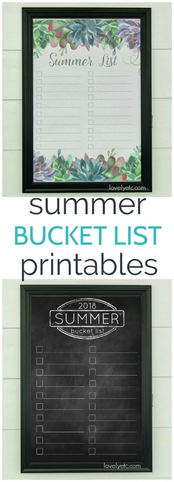 2018 summer bucket list free printables. Print them out at home or turn them into posters for cheap as engineering prints.