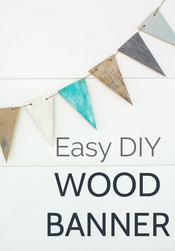 This beautiful wood banner is easy and inexpensive to make. And it adds the perfect texture and style to any space whether it's a farmhouse style gallery wall or a beautiful wedding.