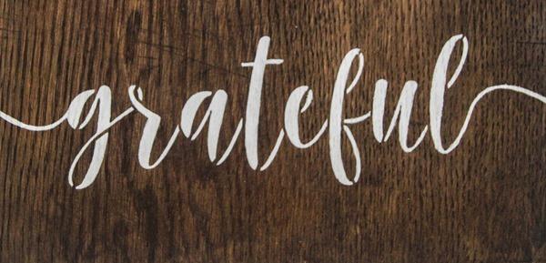 grateful stencil