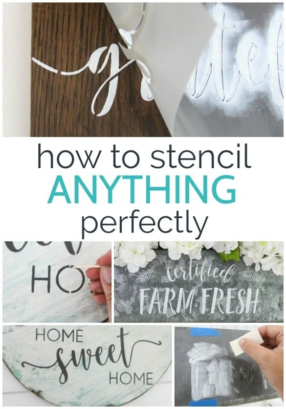 How to stencil anything perfectly. These stencil hacks will hep you get a perfect finish every single time.