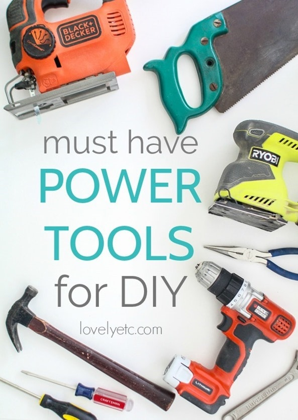 The most essential power tools for DIY.  Forget buying everything - these are the tools you really need.  Plus tips for saving money on tools.