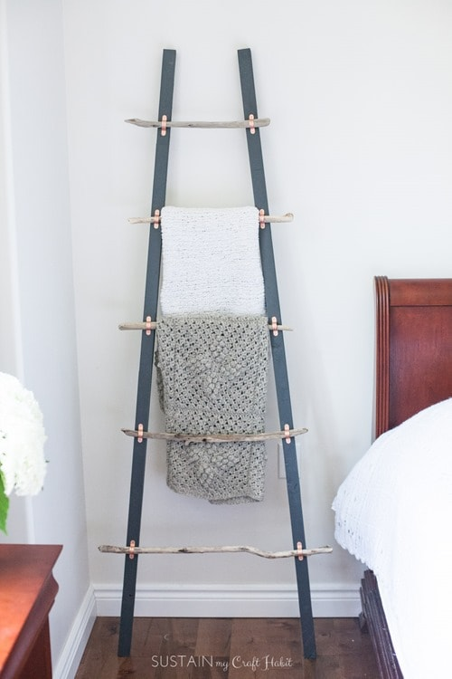 How-to-make-a-DIY-blanket-ladder-with-driftwood-pieces-and-Home-Depot-Canada-1648