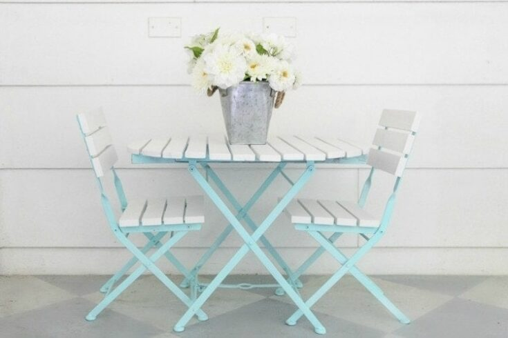 How To Paint Outdoor Furniture Like A, What To Paint Wooden Garden Furniture With