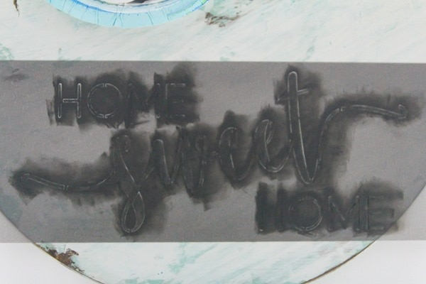 stenciling home sweet home