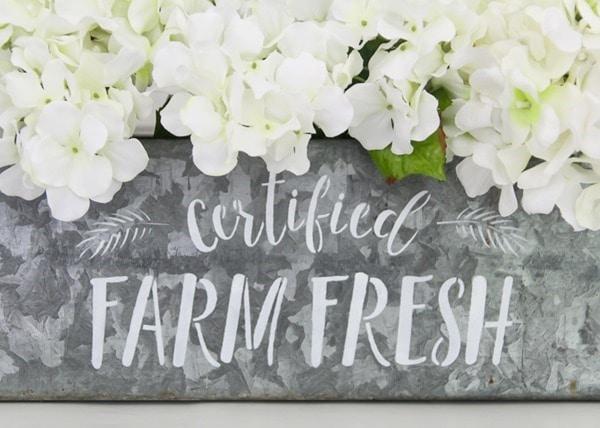 certified farm fresh stencil