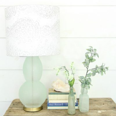 How to Make a Gorgeous Sea Glass Lamp