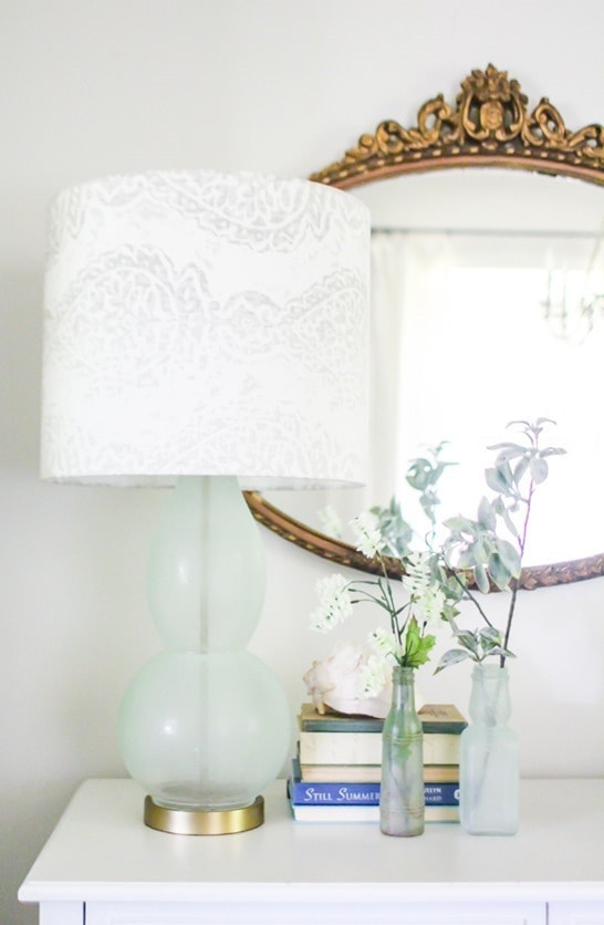 diy sea glass lamp