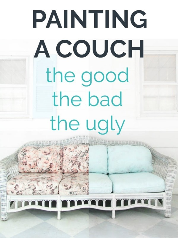 Is painting a couch really a good idea?  An honest look at the pros and cons of painting a couch with latex paint.