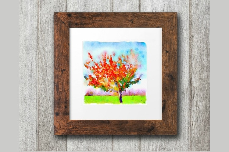 Free Fall Printables: Gorgeous Watercolor Trees