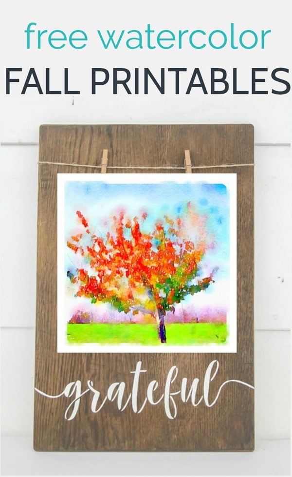 free watercolor fall printables 2