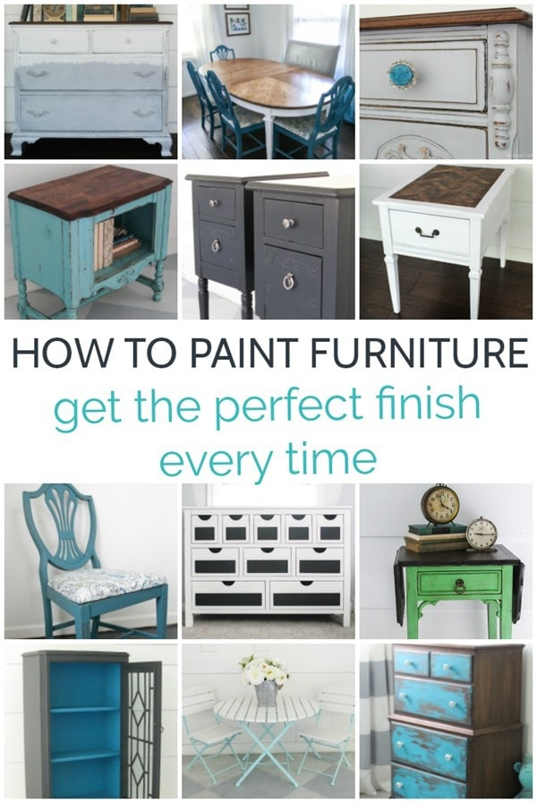 How to paint furniture for the perfect finish every time - Lovely Etc.