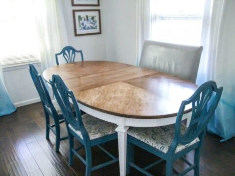 How To Refinish A Worn Out Dining Table Lovely Etc