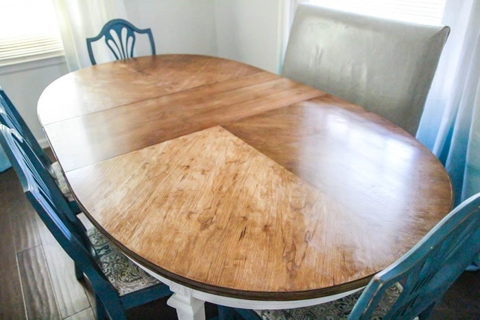 beautiful refinished tabletop