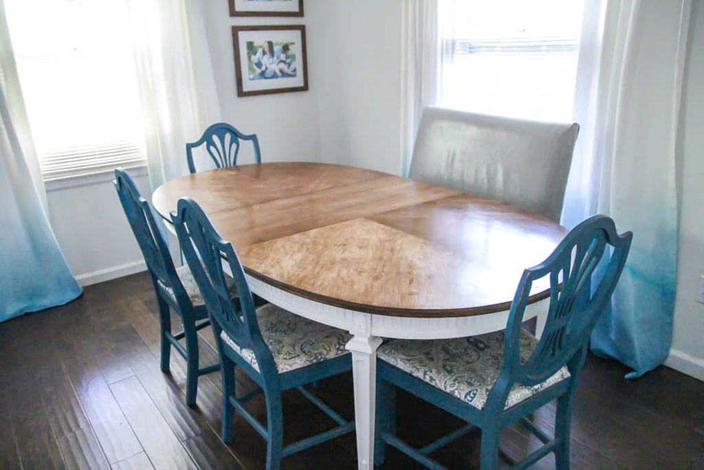 All Wood Dining Room Table Nobody would call this table run down now! Just look at that gorgeous wood  grain. I love painting furniture, but there is just something about  restoring a ...