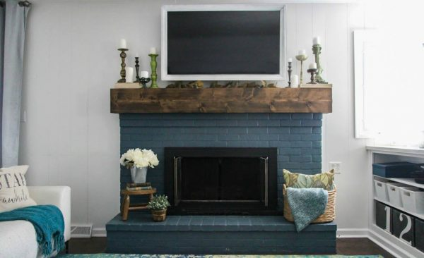 Simple Fall Mantel Decorating Around The Tv Lovely Etc