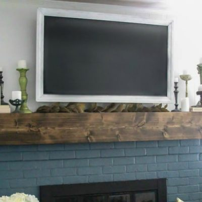 Simple Fall Mantel: Decorating Around the TV