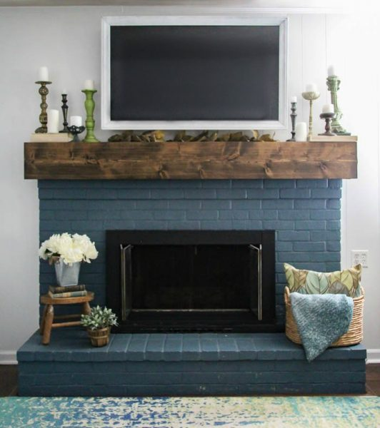 Simple Fall Mantel Decorating Around the TV , Lovely Etc.