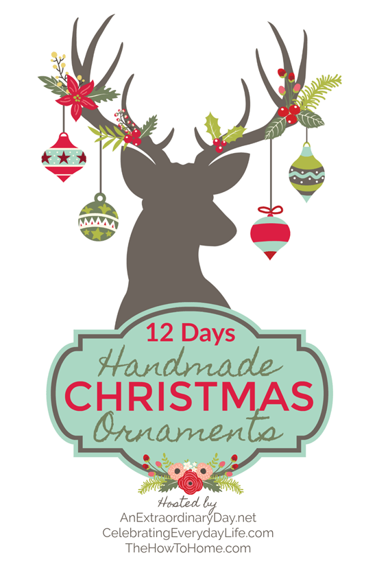 12 Days of Handmade Christmas Ornaments - some of the best DIY Christmas ornaments I've seen.