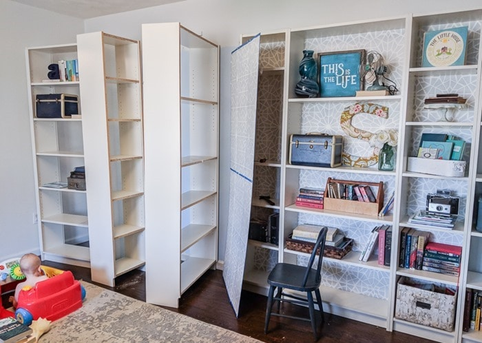 removing the backs from ikea bookcases