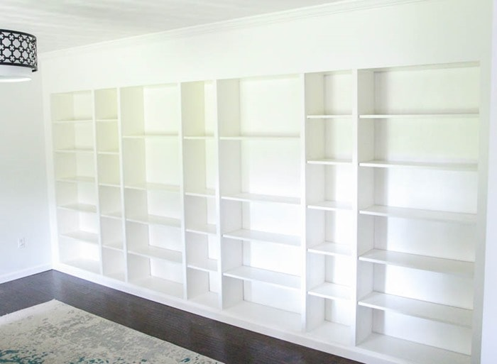 ikea built in bookcases
