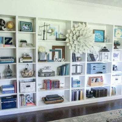 How to Build Easy Built Ins from IKEA Bookcases
