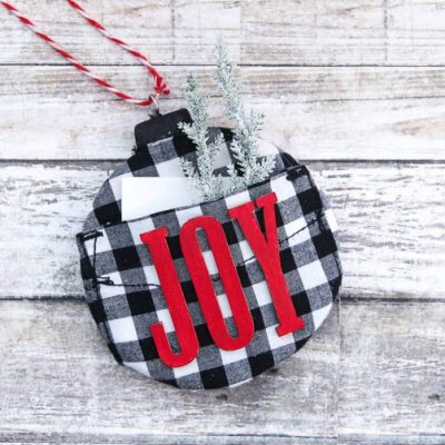 Buffalo Plaid Christmas Ornaments with a Twist