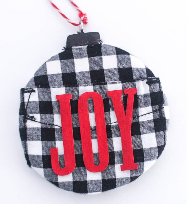 upcycled plaid christmas ornament - Plaid Christmas Ornaments