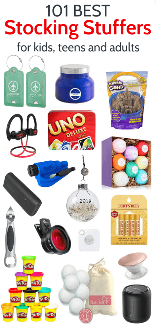 Stocking Stuffer Ideas for men, women, teens, and kids. These stocking stuffers will take care of everyone on your list and they are all fun, useful gifts, not just junk that nobody actually wants.