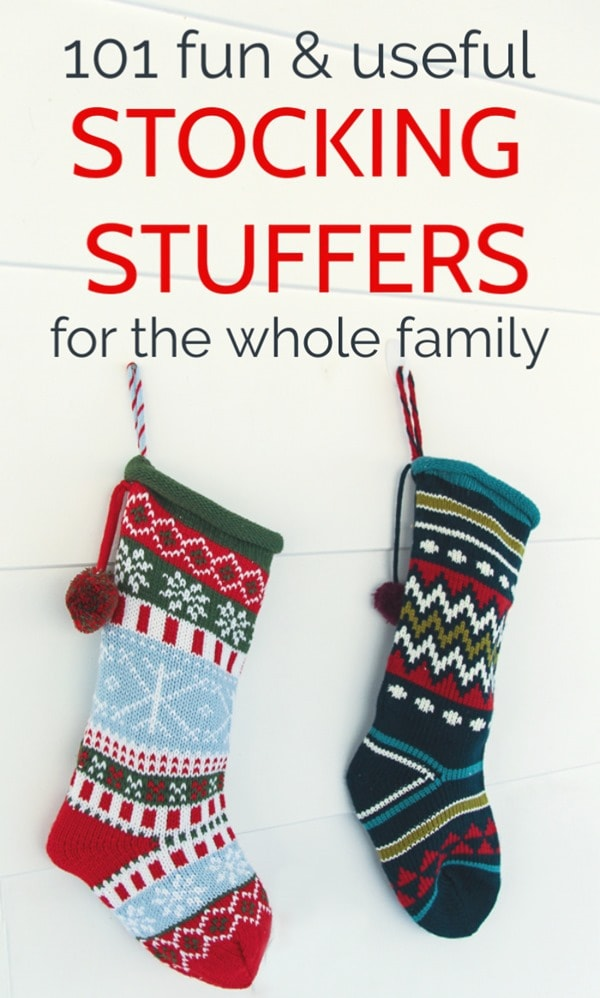 Stocking stuffers that your family actually wants to receive. Fun and useful stocking stuffer ideas for kids, teens, men and women.
