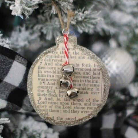 DIY Birth of Jesus Christmas Ornament
