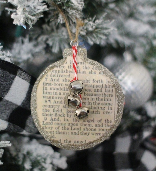 DIY Bible story Christmas ornament.