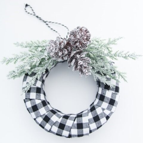 Quick and Easy Buffalo Plaid Christmas Ornament