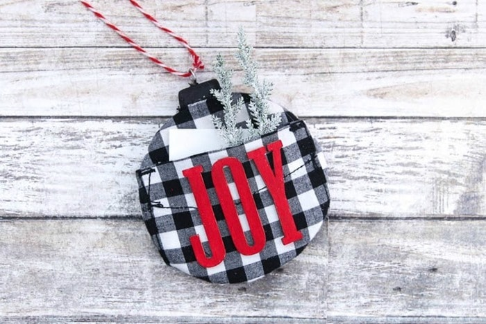 plain christmas ornament with a twist
