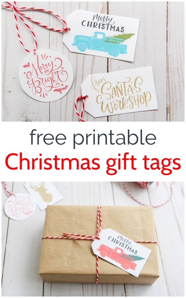 These free Christmas gift tags are so cute. I love the little trucks with Christmas trees but they are all fun.