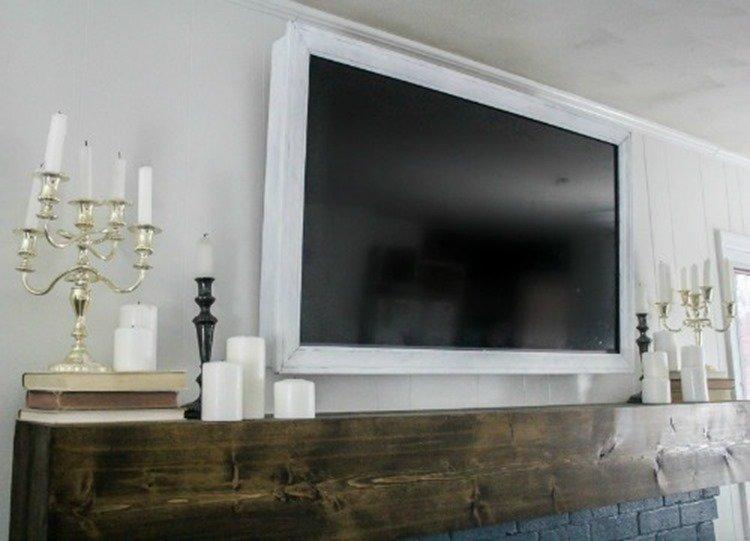 DIY tv frame that swivels 2