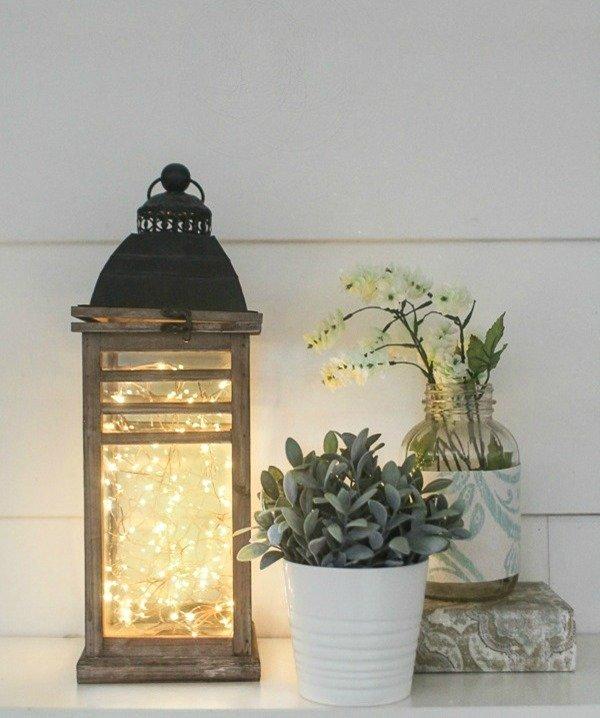 diy fairy light lantern 4