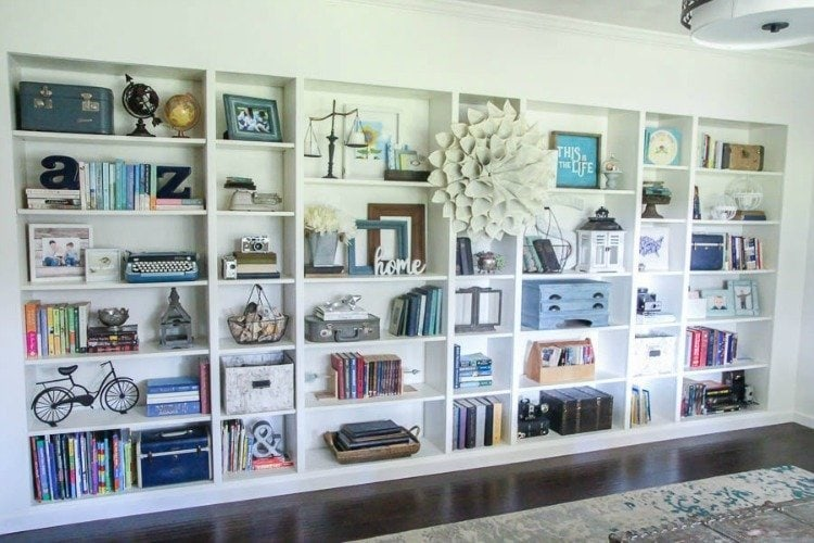 ikea built in bookshelves from billy bookcases 2