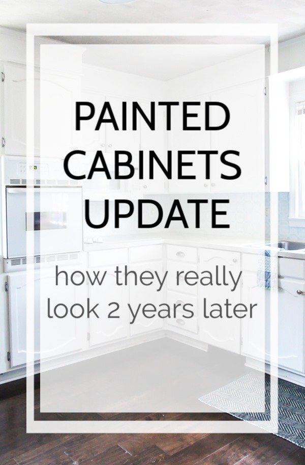 A complete update on how our painted kitchen cabinets are holding up after two years of use. I'm sharing everything you need to know before painting your own kitchen cabinets.