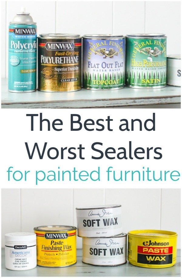 the best and worst sealers for painted furniture including polycrylic, polyurethane, wax, and General Finishes