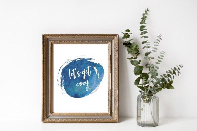 Free printable art - let's get cozy