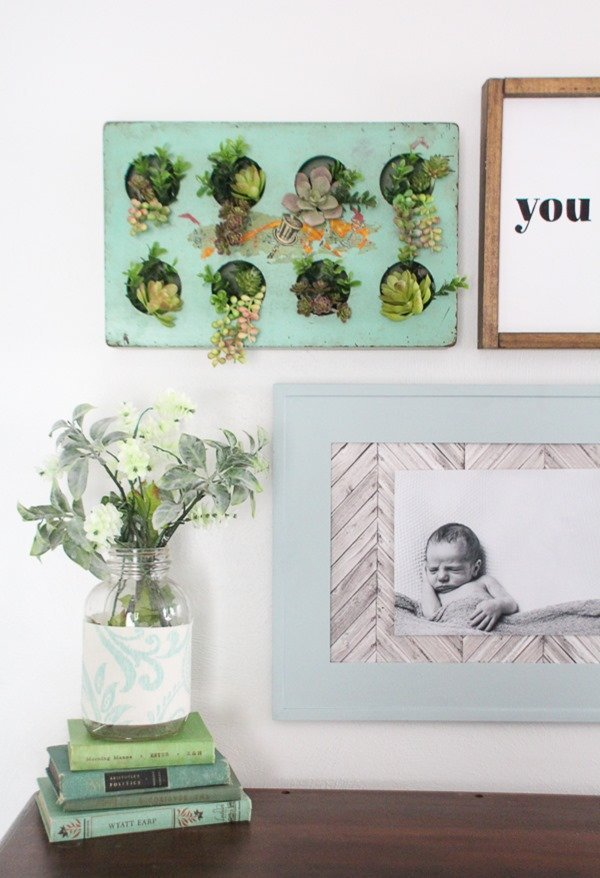 Upcycle a thrifted tray or muffin tin into fabulous succulent wall decor. This project is super easy and makes a huge impact in any space.