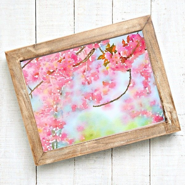 Beautiful watercolor cherry blossoms printable
