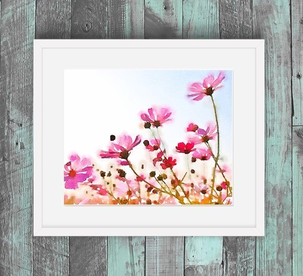 Free watercolor wildflowers printable