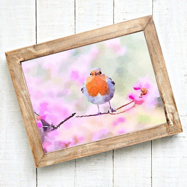 Free watercolor bird printable - perfect for spring.